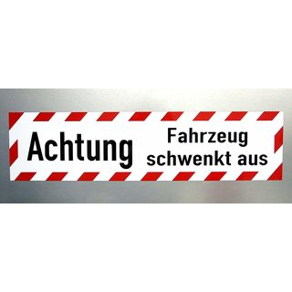 Magnetschild Achtung Fahrzeug Schwenkt Aus 60 X 15 Cm 1950